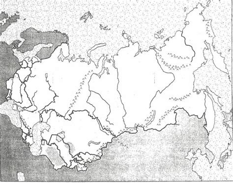 Outline Map Of Russia And Northern Eurasia by Qms Northern Eurasia Physical Map Purposegames