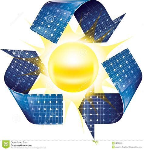 lade energia solare energ 237 a solar ilustraci 243 n del vector imagen 42795955