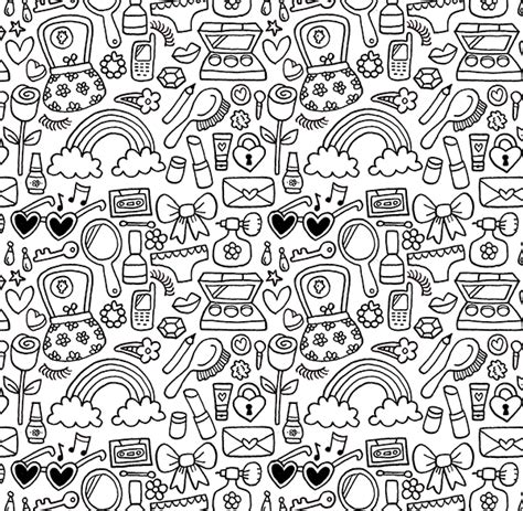 doodle patterns for colouring doodle patterns on behance