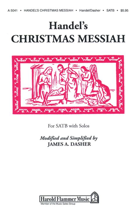 handel s christmas messiah sheet music by george frideric