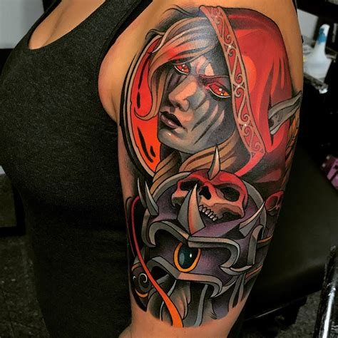 world of warcraft tattoos world of warcraft sylvanas wow
