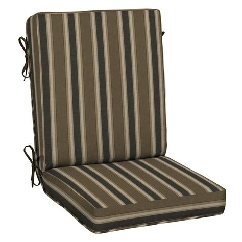 chair pads for back hton bay jovie mid back outdoor chair cushion je12552b
