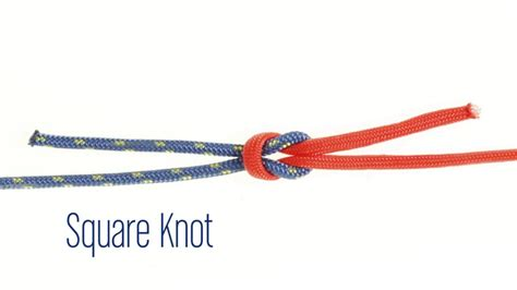 How To Tie A Square Knot Step By Step - how to tie a square knot