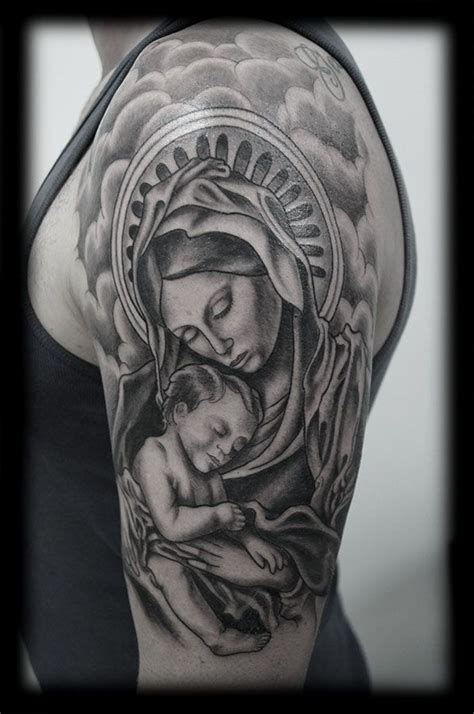 virgin mary half sleeve tattoo designs arm tattoos designs for ideas to make the best