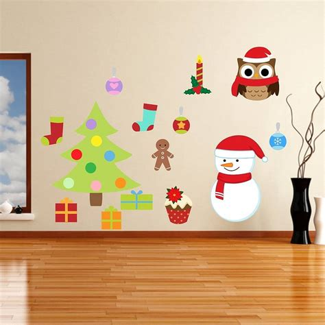 Removable Christmas Wall Stickers removable christmas wall stickers by mirrorin