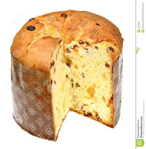 italienischer kuchen panettone italienischer panettone in der frontseite stockfoto bild