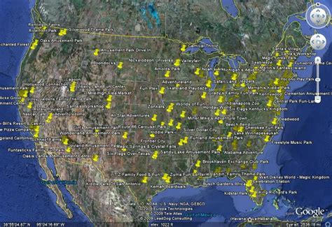 theme parks in us map of amusement parks in us bing images