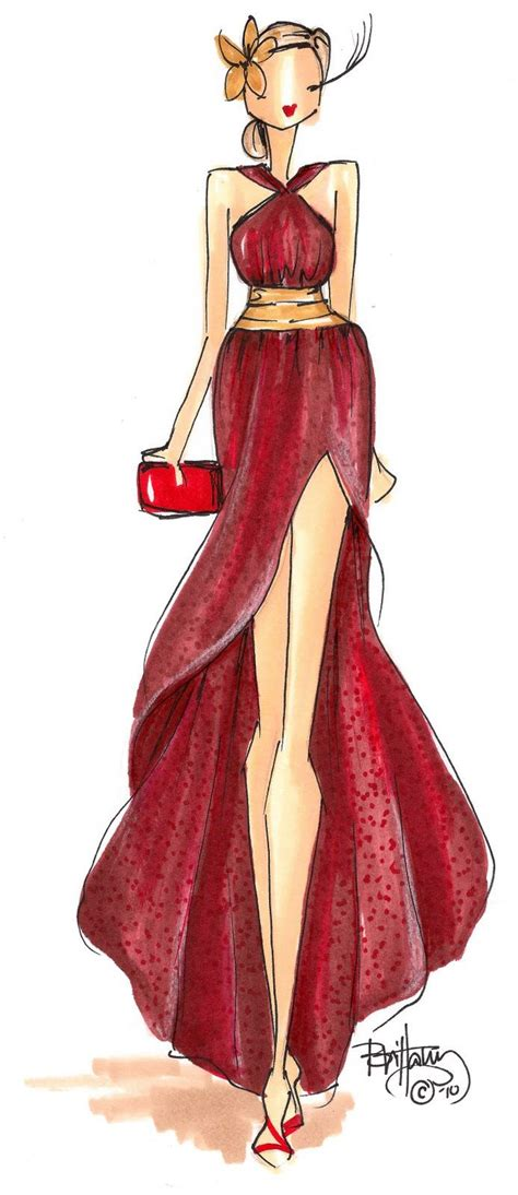 desain dress glamour brittany fuson fashion sketch draw me a picture