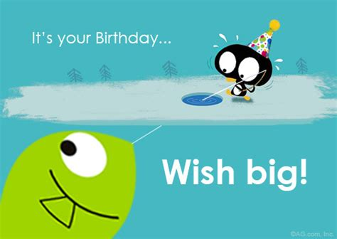 cartoon birthday ecards blue mountain quot wish big quot birthday postcard blue mountain ecards