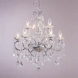Ceiling Chandeliers Vara 9 Light Bathroom Chandelier Chrome