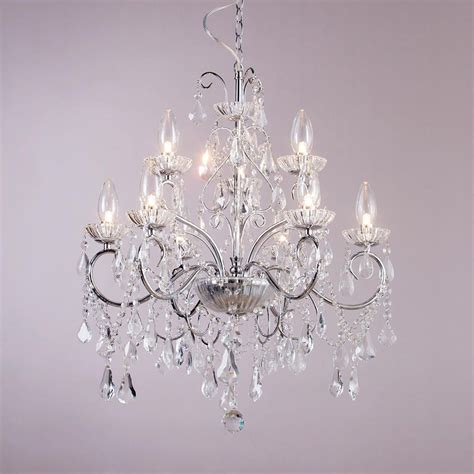 Ceiling Chandelier Lighting Vara 9 Light Bathroom Chandelier Chrome