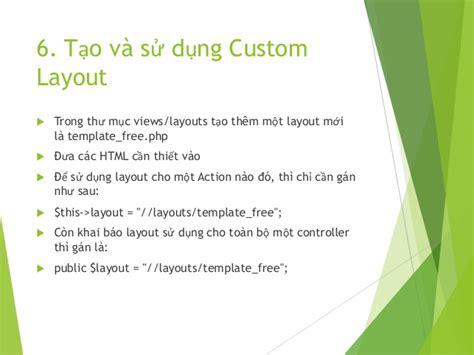 yii override layout giới thiệu yii framework 1