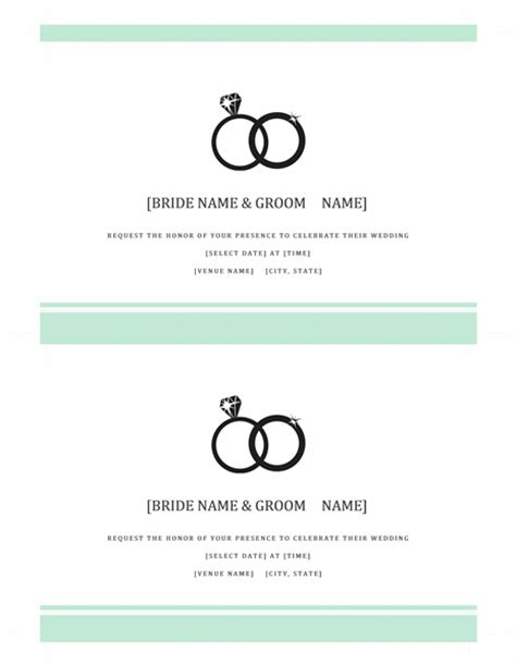 templates word wedding free wedding invitation templates in word