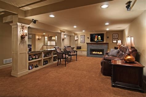 family room traditional basement minneapolis by
