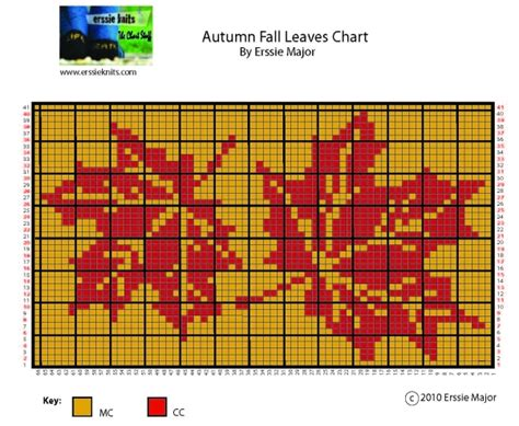 leaf pattern knitting charts erssie knitting charts autumn leaves chart