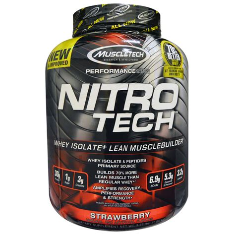 nitro tech pro series muscletech whey protein isolate nutrition facts