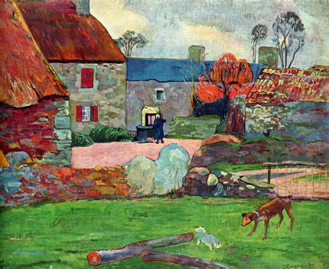paul gauguin paul gauguin on still life oil on canvas and red roof