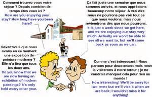 dialogue appr 233 ciez vous votre s 233 jour anglais