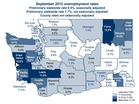 mapping washington state unemployment by county 171 social