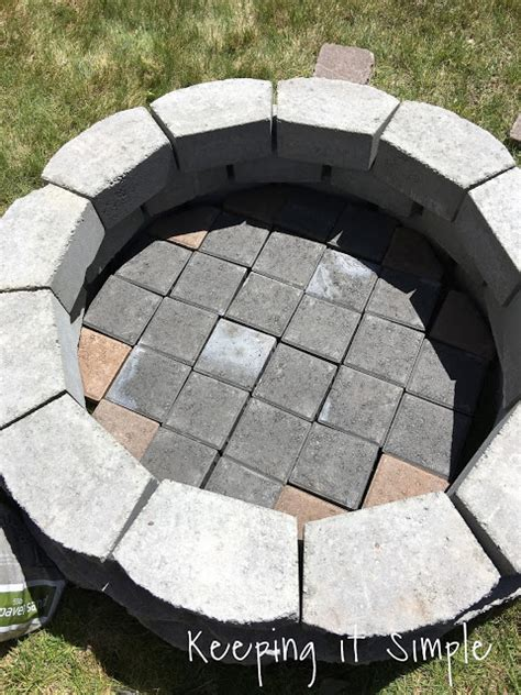 how to build a firepit with pavers keeping it simple how to build a diy pit for only 60