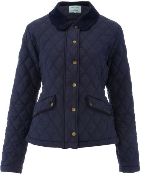 Navy Blue Quilted Jacket Womens by Dickins Jones Quilted Jacket In Blue Navy Lyst