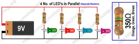 resistors for leds in parallel how to calculate the value of resistor for led led s circuits