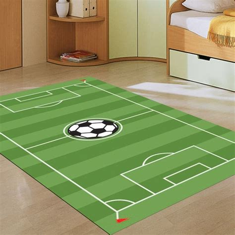 boys bedroom rugs soccer pitch rug boys rooms pinterest