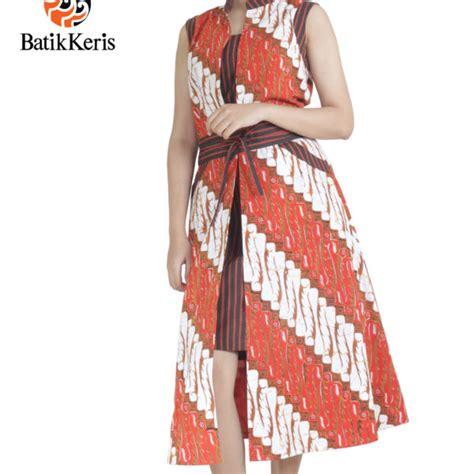 Dress Batik Cap Bantulan Kombinasi Ukuran M Berlapis Trikot sackdress batik motif parang gondosuli kombinasi lurik batik keris