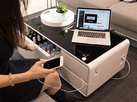 sobro coffee table with fridge sobro a coffee table with fridge bluetooth speakers led
