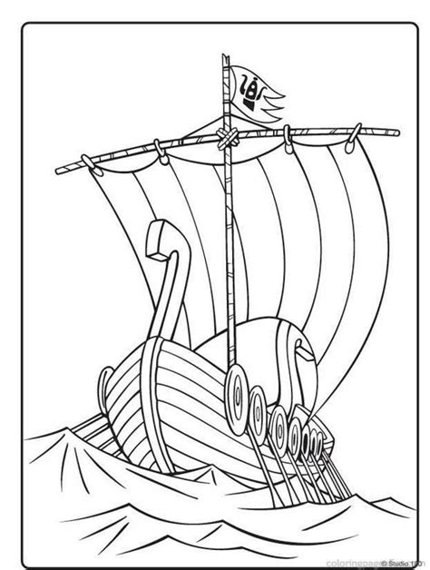 viking ship coloring page az coloring pages