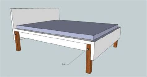 raise malm bed get 4 50cm x 40cm x 40cm pieces of timber 8 6mm x 100mm
