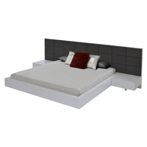 white queen platform bed sharon white queen platform bed el dorado furniture