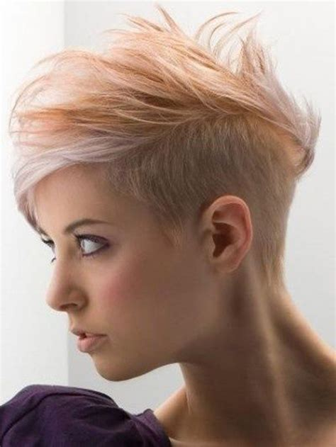 woman half shaved haircuts half shaved hairstyles for women 2016