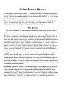 Personal Statement Template For A by Personal Statement For Work Things To Put In Your