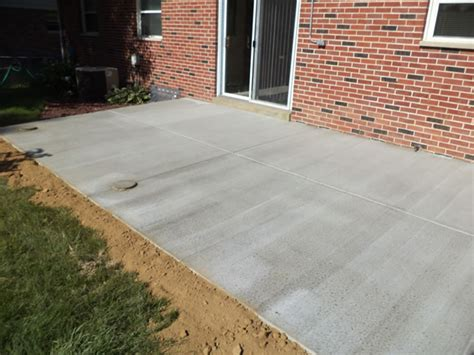 concrete finishes for patios backyard concrete patio buchheit construction