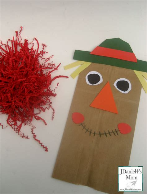 Paper Bag Scarecrow Craft For Preschoolers - craft for paper bag scarecrow