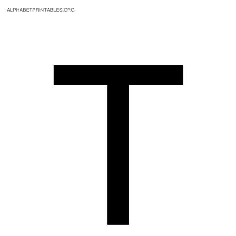 Black Alphabet Letters | Alphabet Printables org T