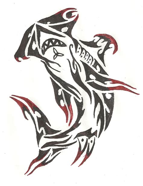 tribal shark final by yoshio25 on deviantart