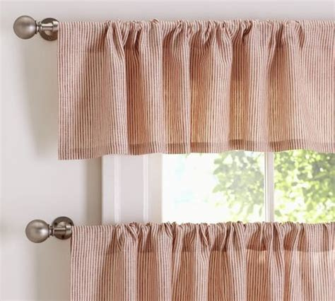 pottery barn kitchen curtains mini stripe cafe curtain pottery barn window