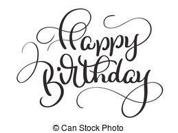 imagenes blanco y negro feliz cumpleaños letras color texto cumplea 241 os vector fondo negro