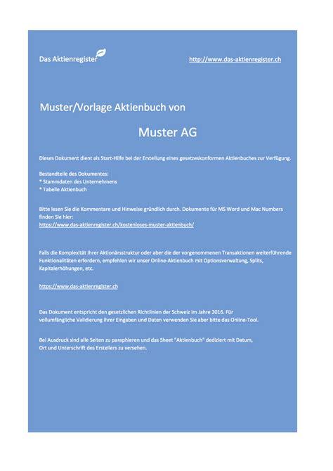Muster Aktienbuch Schweiz das aktienregister s weblog archiv 2016