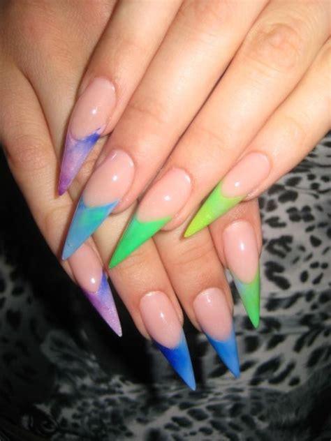 day  neon stiletto nail art nails magazine