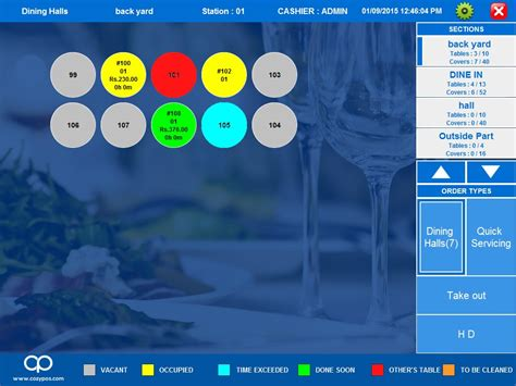 table layout software multi store management software cozy pos