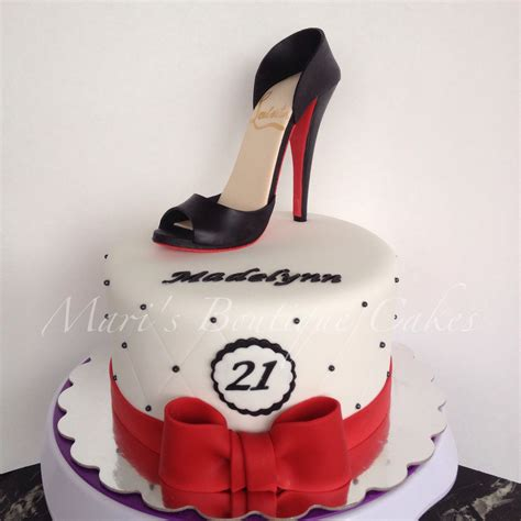 cakes shoes 21st birthday cake with high heel shoe topper by mari s