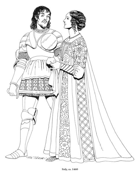 coloring pages renaissance art coloring page clothing of the renaissance kids n fun