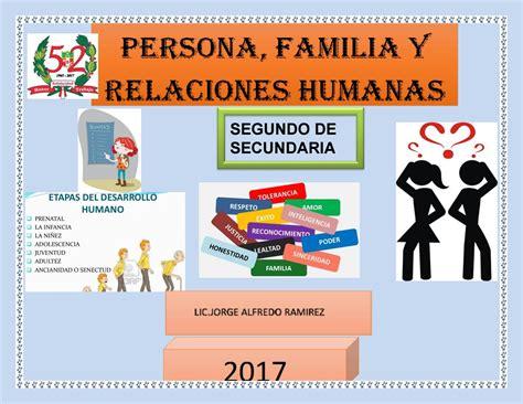 programacion de persona familia y relaciones humanas de 4 de secundaria programaci 211 n anual de pf y rh by jorge alfredo ramirez