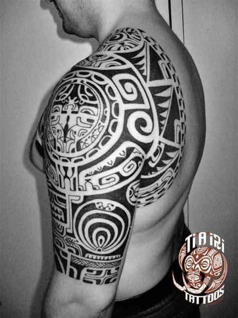 polynesian shoulder amp chest tattoos ti a iri polynesian