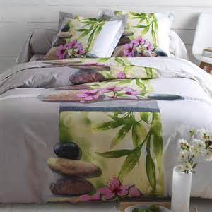 linge de lit zen coton blancheporte