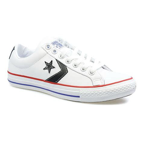 converse shoes size 3 converse player mens womens white black leathe
