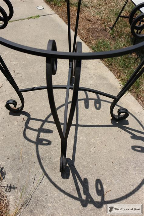 chalkboard paint on metal using chalk paint on metal patio furniture the crowned goat